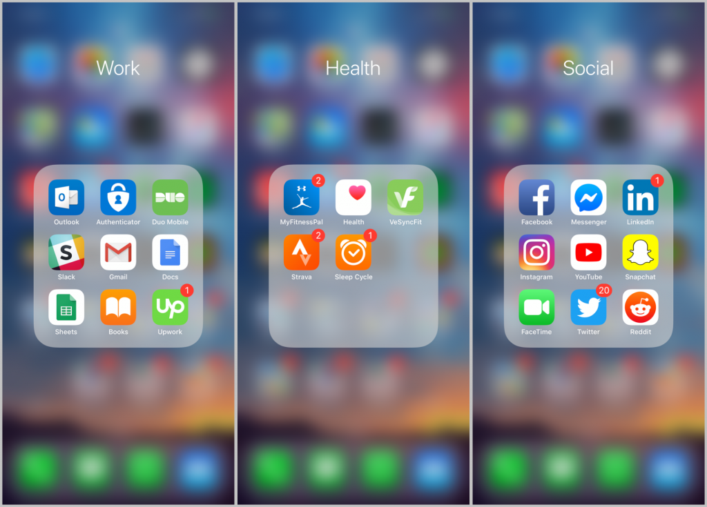 iphone folders